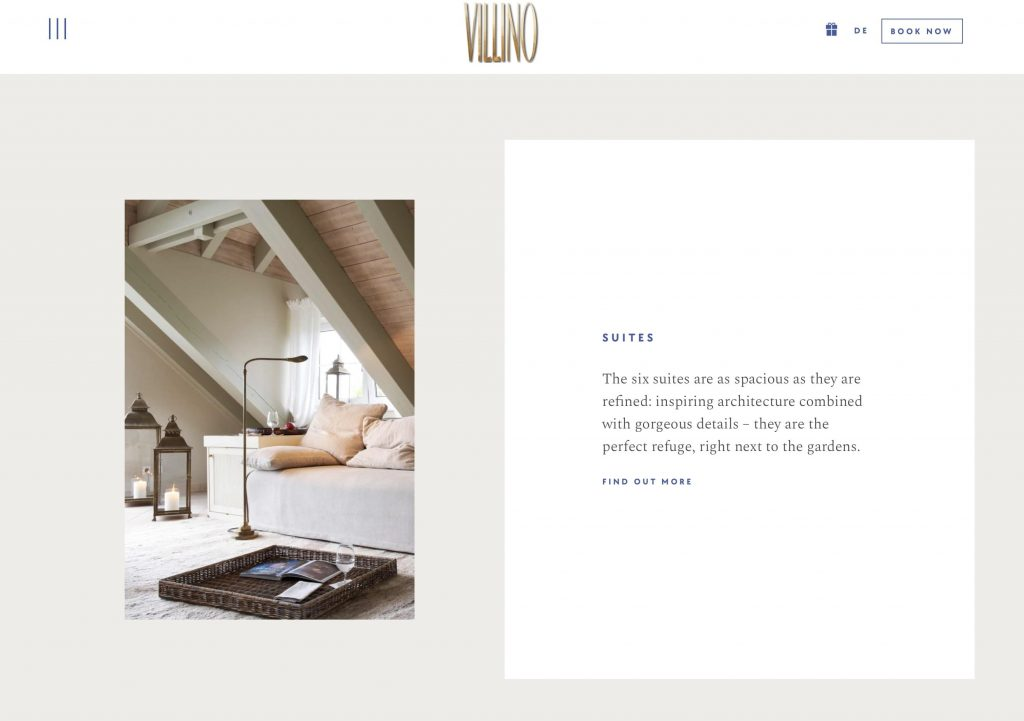 VILLINO German English website translation