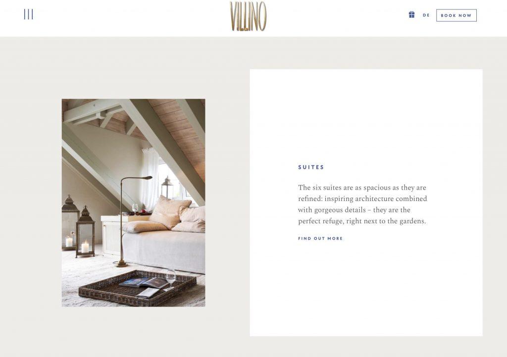 VILLINO Deutsch-Englisch-Websiteübersetzung