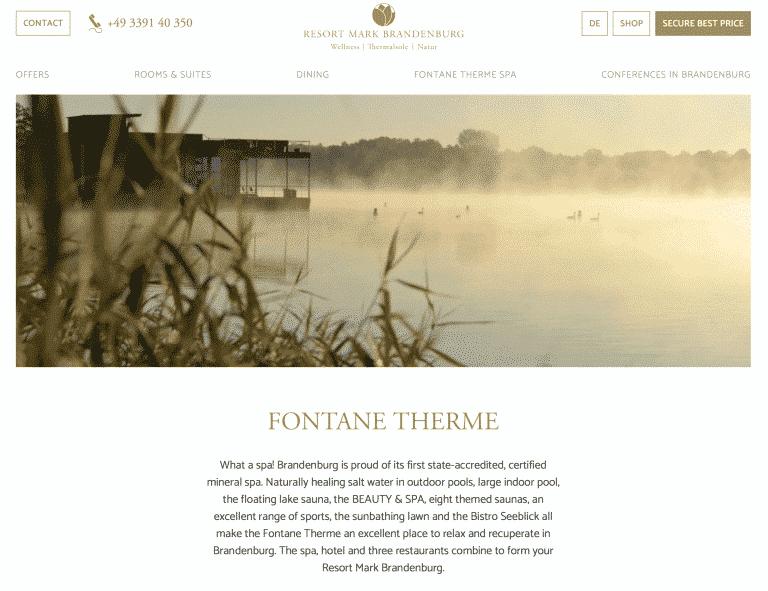 translation of hotel website