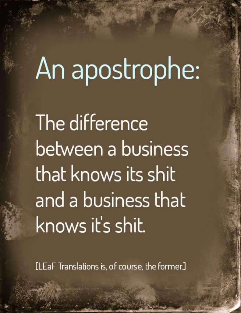 apostrophe LEaF Translations