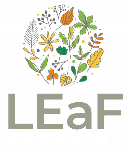 LEaF Translations logo stacked neg