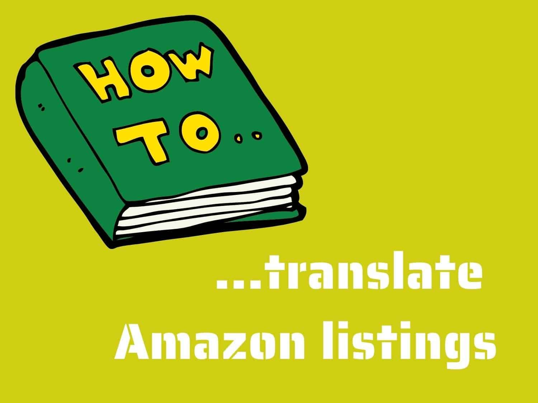 how to translate amazon listings