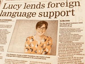 LEaF COVID Language Hub in York Press