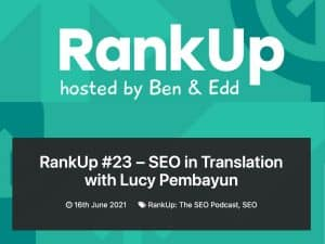 Lucy LEaF Translations appears on RankUp SEO podcast
